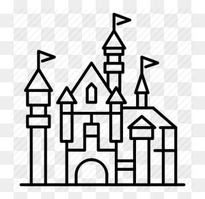 Amusement Park, Castle, Disney, Disneyland, Theme Park, Travel - Disney Castle Logo PNG