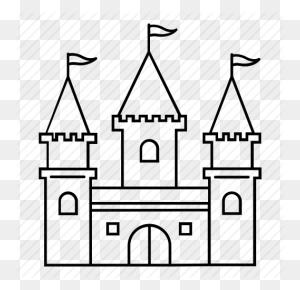 Amusement Park, Castle, Disney, Theme Park Icon - Disney Castle Logo PNG