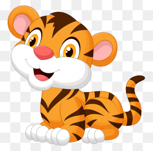 Animals Baby, Baby Tigers And Cute Babies - Cartoon Baby PNG
