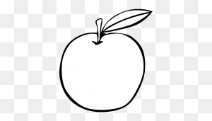 Apple Black And White Apple Black And White Apple Clip Art - Black And White Clipart Apple