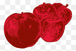 Apples Free Stock Photo Illustration Of Four Red Apples - Sliced Apple Clipart