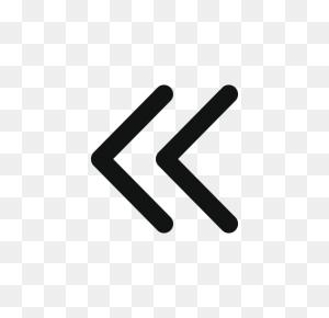 Arrow, Arrows, Double Arrow, Doublechevronleft, Left Icon - Double Arrow PNG
