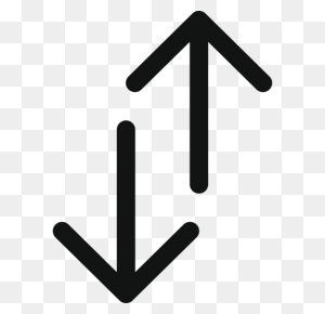 Arrow, Arrows, Double, Double Arrow, Doublearrowupdown, Top Bottom - Double Arrow PNG