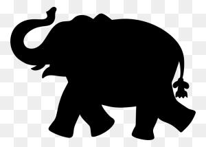 Asian Elephant African Elephant Elephants Silhouette Mastodon Free - Africa Silhouette PNG