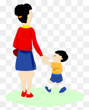 Baby Babies Infant Infants Toddler Toddlers Baby Walker Walk Walks - Mom Holding Baby Clipart