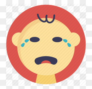 Baby Crying, Baby In Tears, Baby Sad Face, Sad Baby, Weeping Baby Icon - Baby Crying PNG