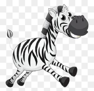 Baby Zebra Cartoon Image Group - Zebra Clipart Black And White