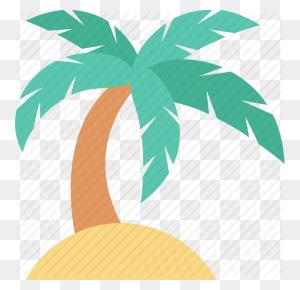 Beach, Coconut Tree, Date Tree, Palm, Palm Tree Icon - Palm Tree Beach Clip Art