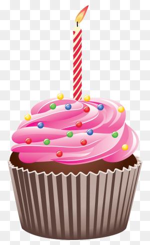 Birthday Cupcake Clip Art Look At Birthday Cupcake Clip Art Clip - October Birthday Clipart