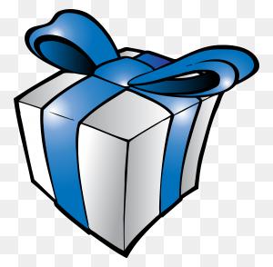Birthday Present Clipart Blue
