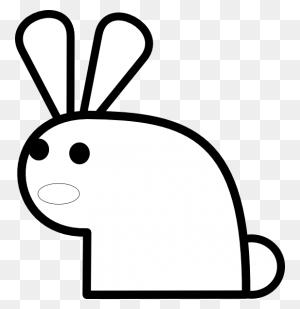 Black And White Rabbit Drawing Machovka Rabbit Black White - Rabbit Clipart Black And White