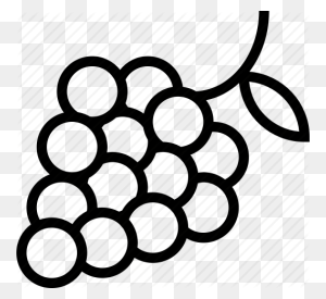 Black Grapes, Bunch, Easy Fruit, Fruits, Grapes, Green Grapes - Fruits Clipart Black And White