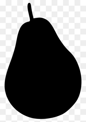 Black Worcester Pear Watermelon Fruit Cucumber - Watermelon Black And White Clipart