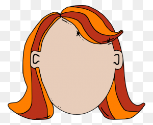 Blank Face Teen Girl Cartoon Png Clip Arts For Web - Girl Cartoon PNG