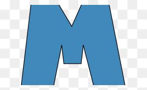 Blue Letter M Blue Alphabet Letter M Clip Art Blue Alphabet Letter - Clipart Alphabet Letters