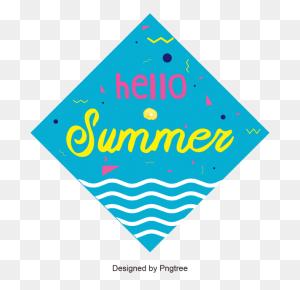Blue Ocean Label Design In Summer, Summer Label, Summer, Vector - Ocean PNG