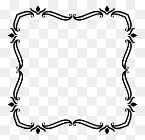 Borders And Frames Art Nouveau Ornament Picture Frames Drawing - Picture Frame Clipart