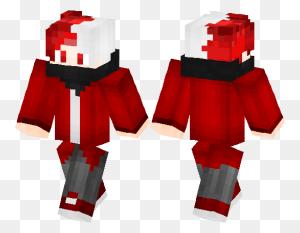 Boy With Redwhite Hair Minecraft Skin Minecraft Hub - Minecraft Pig PNG