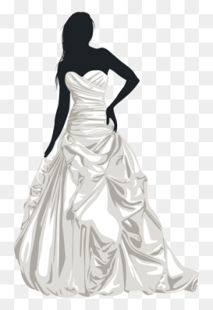Bride Silhouette Clip Art Weddings Silhouette Clip - Wedding Clipart
