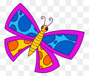Butterflies Butterfly Spotted Neon Clip Art - Butterfly Clipart PNG
