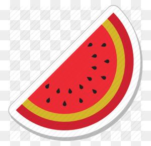 Cantaloupe, Food, Fruit, Watermelon, Watermelon Slice Icon - Watermelon Slice Clipart