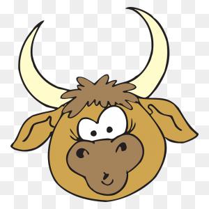 Cara De Toro Animales Domesticos Caras, Animales Y - Hace Fresco Clipart