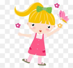 Cartoon Clipart On Girly Girls - Girl Monkey Clipart