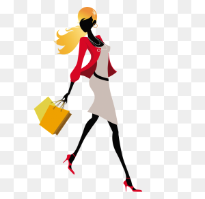 Cartoon Fashion Girl Png Free Png Download Png Vector - Cartoon Girl PNG