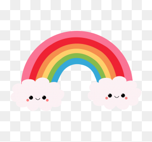 Cartoon Pictures Of Rainbows Group With Items - Rainbow Bridge Clipart