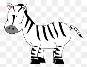 Cartoon Zebra Clipart Animals Clip Art - Zebra Clipart Black And White