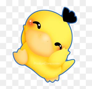 Chibi Psyduck Anime Chibi, And Anime - Psyduck PNG