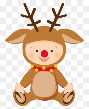 Christmas Baby Infant Christmas Babies Clip Art - Baby Deer Clipart