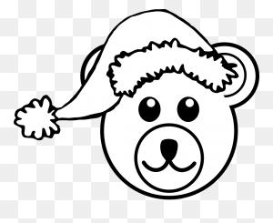 Christmas Bear Clipart Black And White, Bear Black And White Cute - Mama Bear Clipart Black And White