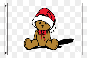 Christmas Bear Seasonal Flag Nylon Hampg Flags A' Flying - Color Guard Flags Clipart