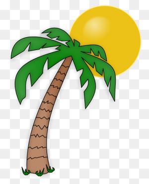 Christmas Palm Tree Clip Art Look At Christmas Palm Tree Clip - Palm Tree With Christmas Lights Clipart
