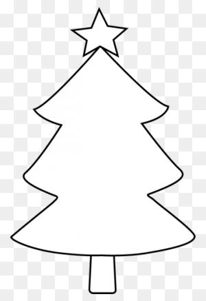 Christmas Tree Black And White Christmas Tree Clip Art Black - Christmas Tree With Presents Clipart