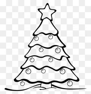 Christmas Tree Black And White Christmas Tree Clipart Trees - Pinata Clipart Black And White