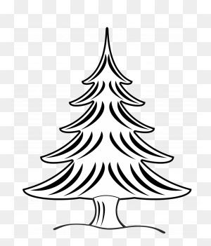 Christmas Tree Black And White Christmas Tree Clipart Trees - Harvest Clipart Black And White