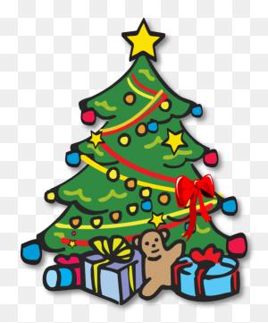 Christmas Tree Black And White Christmas Tree With Presents - Christmas Tree With Presents Clipart