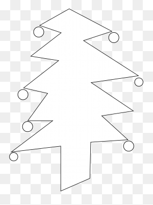 Christmas Tree Black And White Evergreen Trees Clipart Black - Evergreen Tree Clipart Black And White