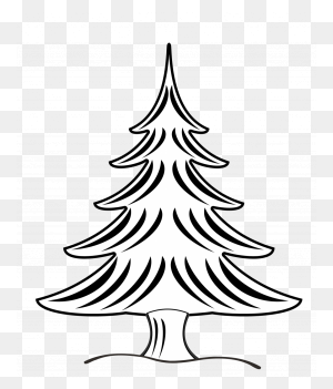 Christmas Tree Christmas Tree Clipart Black And White Panda Free - Palm Tree With Christmas Lights Clipart