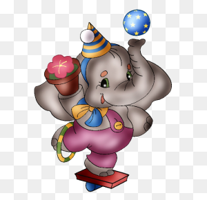 Circus Elephant Cartoon Clip Art Images All Images Of Elephants - Clipart Watercolor Baby Elephant