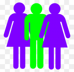 Clip Art Boy And Girls Stick Figure Ezwgvqf - Two Girls Clipart