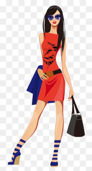 Clip Art Fashion, Fashion - Woman Shopping Clipart