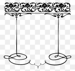 Clip Art Party Art Deco Weddings Clipart - Wedding Reception Clipart