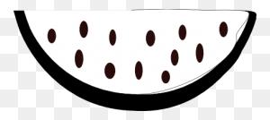 Clip Art Watermelon Black White Food - Watermelon Black And White Clipart