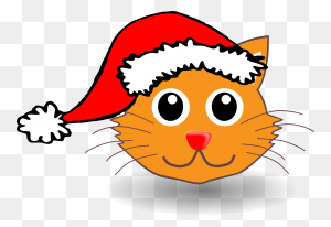 Clipart Christmas Cat Xmas Stuff For Cute Animated Cats Clip Art - Tuxedo Cat Clipart