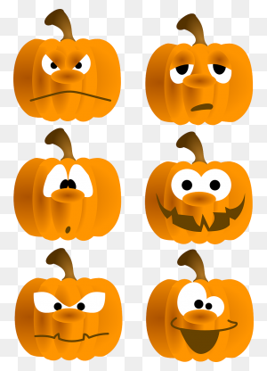Clipart Pumpkin Row, Clipart Pumpkin Row Transparent Free - Row Of Pumpkins Clipart