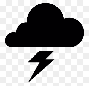 Cloud, Silhouettes, Bolt, Shapes, Weather, Silhouette, Lightning - Sun Silhouette PNG