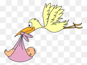 Cool Baby Girl Stork Clipart Baby Girl Baby Shower Clip Art For Girls - Stork Clipart